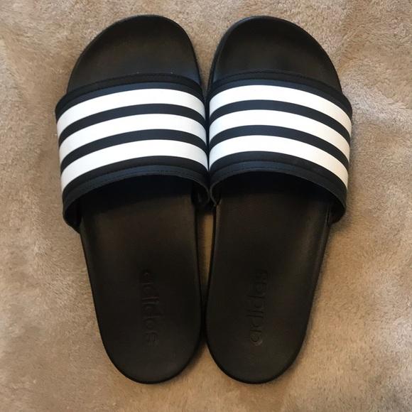 071e4172b adidas Shoes - ADIDAS ADILETTE CLOUDFOAM PLUS STRIPES SLIDES